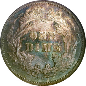 1878 CC 10C MS reverse