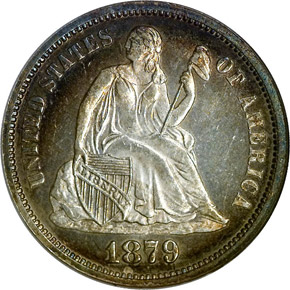 1879 10C MS obverse