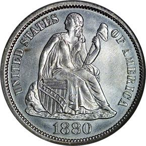 1880 10C MS obverse