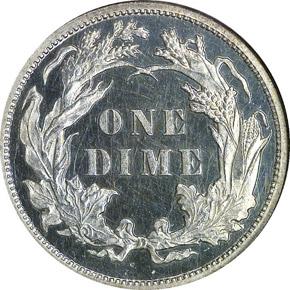 1880 10C PF reverse