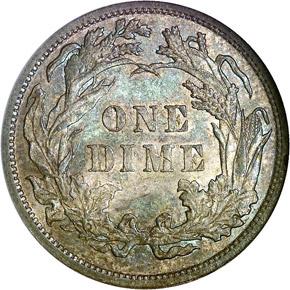 1881 10C MS reverse