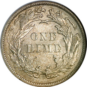1883 10C MS reverse
