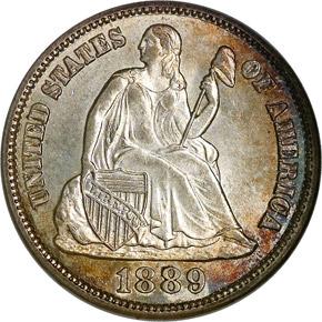 1889 S 10C MS obverse