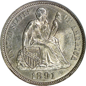 1891 O 10C MS obverse