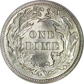 1891 O 10C MS reverse