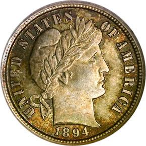 1894 10C MS obverse