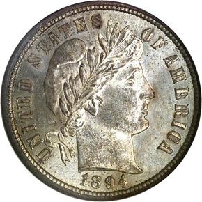 1894 O 10C MS obverse