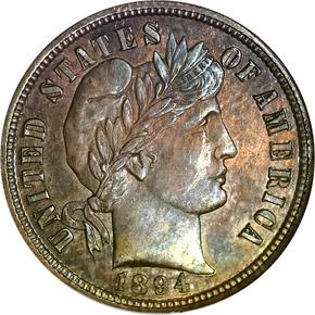 1894 S 10C PF obverse