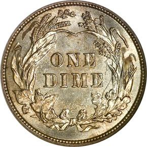 1895 10C MS reverse