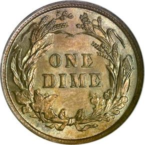 1896 10C MS reverse