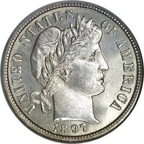 1897 O 10C MS obverse