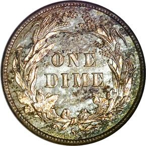 1897 S 10C MS reverse