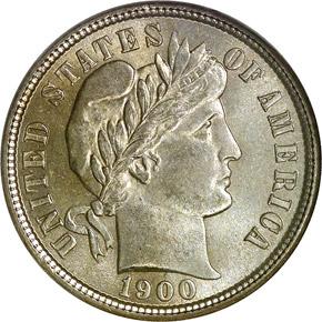 1900 10C MS obverse