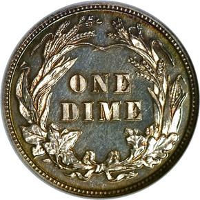 1901 10C PF reverse
