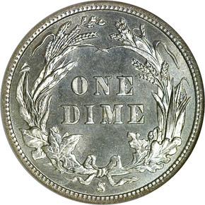 1901 S 10C MS reverse