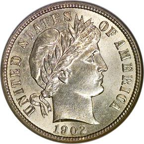 1902 10C MS obverse