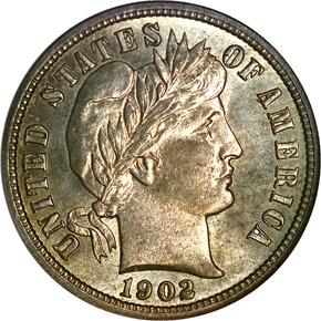 1902 O 10C MS obverse