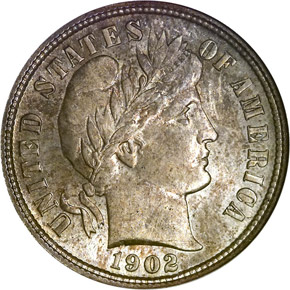 1902 S 10C MS obverse