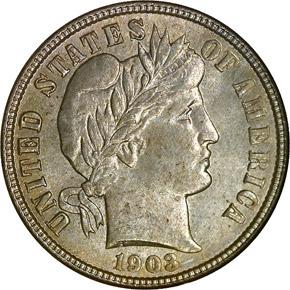 1903 10C MS obverse