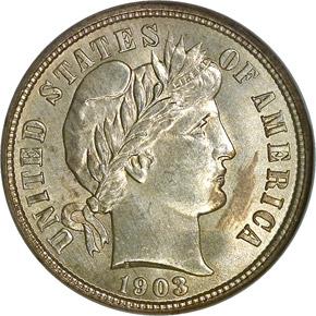 1903 O 10C MS obverse