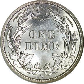 1903 S 10C MS reverse