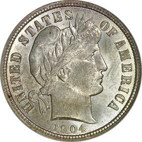 1904 10C MS obverse