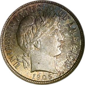 1905 S 10C MS obverse