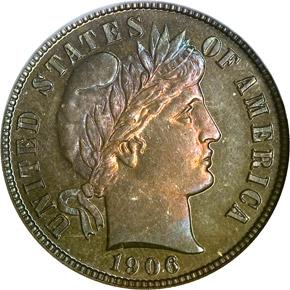 1906 10C PF obverse