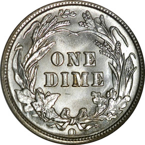 1909 O 10C MS reverse