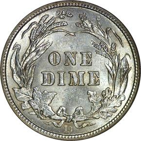1910 D 10C MS reverse