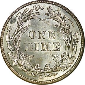 1912 S 10C MS reverse