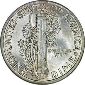 1916 D 10C MS reverse