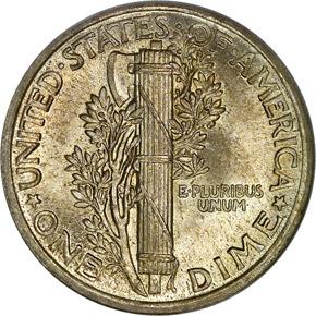 1917 10C MS reverse
