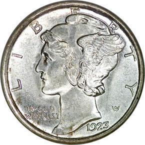 1923 S 10C MS obverse