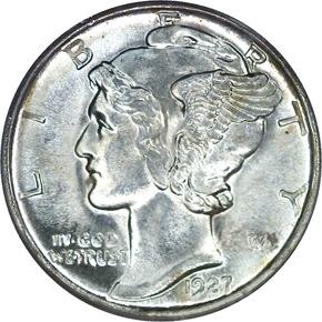 1927 D 10C MS obverse