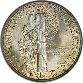 1931 D 10C MS reverse