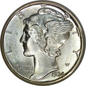 1934 10C MS obverse
