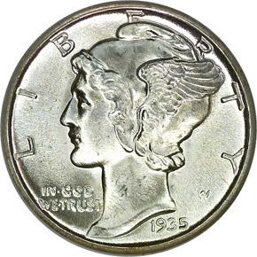 1935 10C MS obverse