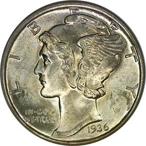 1936 10C MS obverse