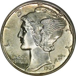 1937 10C MS obverse