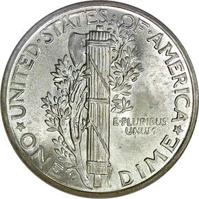 1937 D 10C MS reverse