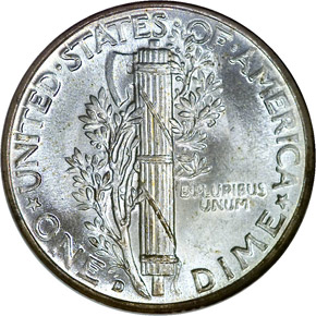 1941 D 10C MS reverse