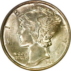 1942/41 10C MS obverse