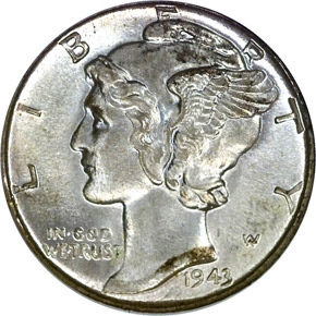 1943 10C MS obverse