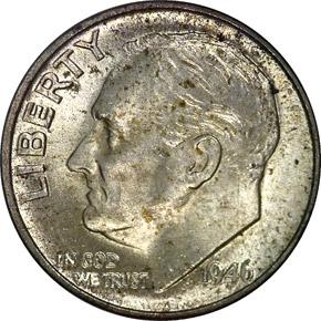 1946 10C MS obverse