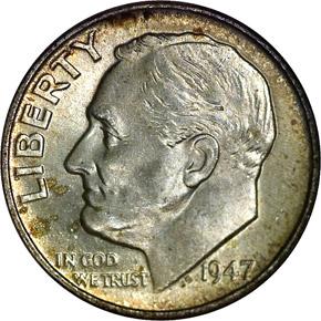 1947 10C MS obverse