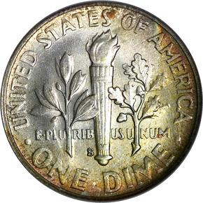 1948 S 10C MS reverse