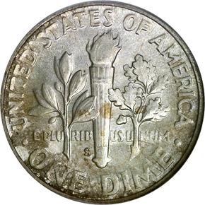1949 S 10C MS reverse