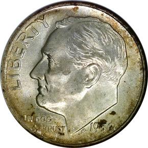 1950 S 10C MS obverse