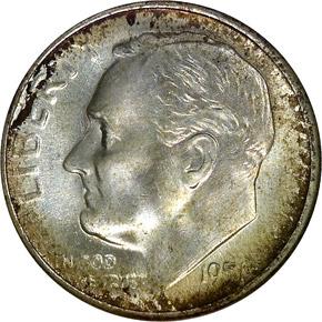 1951 S 10C MS obverse